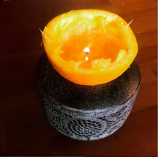 Sinaasappel kaarsje